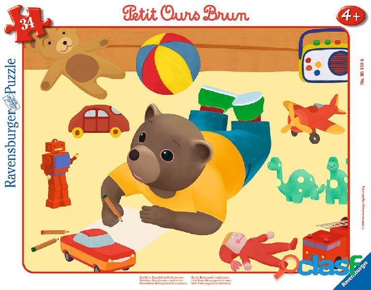 Puzzle cadre - petit ours brun ravensburger