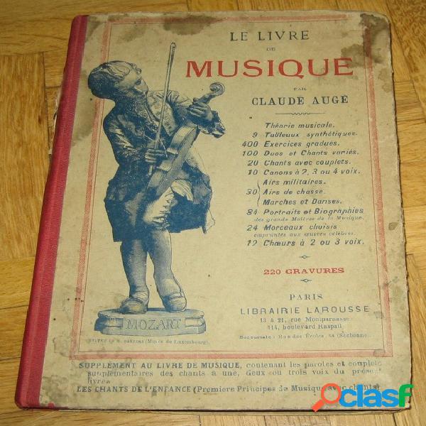 Le livre de musique, claude augé