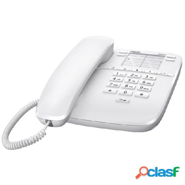 Téléphone de bureau gigaset euroset da310 blanc
