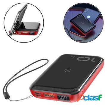 Batterie externe %26 chargeur sans fil rapide baseus mini s - 10000mah - rouge / noir