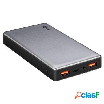 Batterie externe goobay quick charge - double port usb, port type-c - 20000mah
