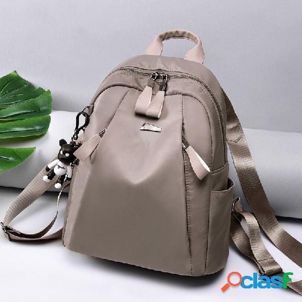 Sac porté épaule de loisirs en nylon à grande capacité sac à dos léger sac porté main pour femme