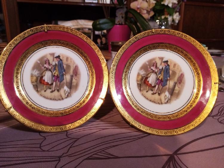 Assiettes décoration porcelaine neuf/revente,