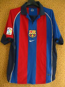 Maillot barcelone football jersey fc barcelona 2001 nike