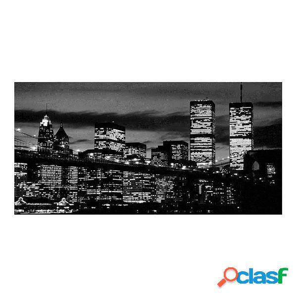 New york city noir blanc 61 cm x 31 cm art mural de canvas manhattan skyline