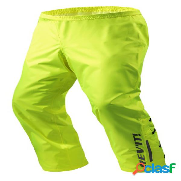 Rev'it! acid h2o, pantalon de pluie moto, jaune fluo