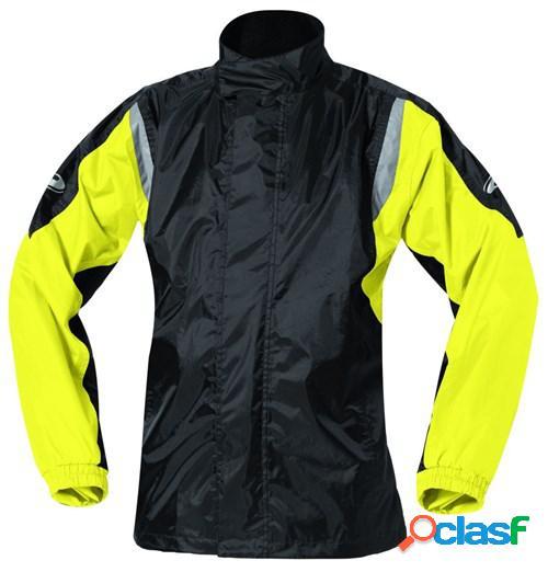 Held mistral ii, veste de pluie moto, noir-jaune fluo