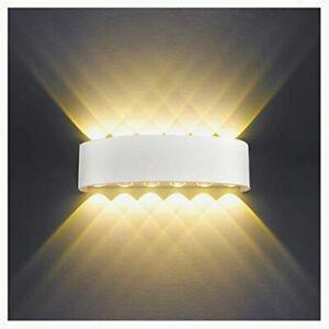 Applique murale interieur led 12w blanc lampe murale