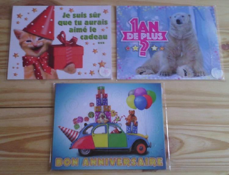 Carte message d'anniversaire neuf/revente, vesoul (70000)