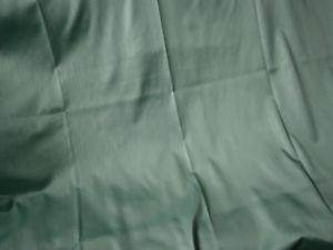 Double rideau vert satiné
