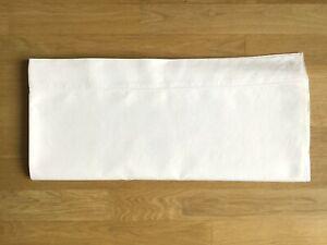 Drap ancien en lin / coton blanc lit 2 personnes 140 160cm