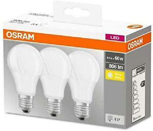 Osram ampoule led e27 base classic a / 8.5 w - equivalence