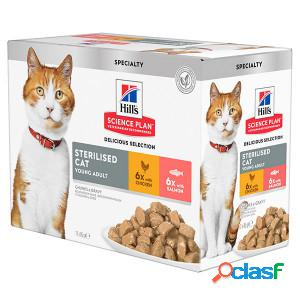 Hill's sterilised young adult sachet pour chat 3 x (12 x 85g)