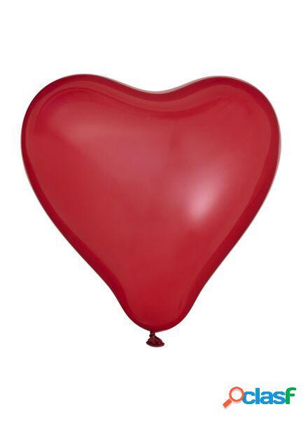 Hema lot de 8 ballons cœurs (rouge)