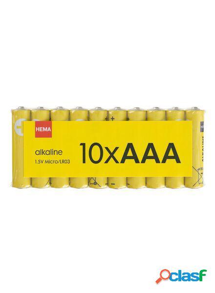Hema lot de 10 piles aaa alcalines