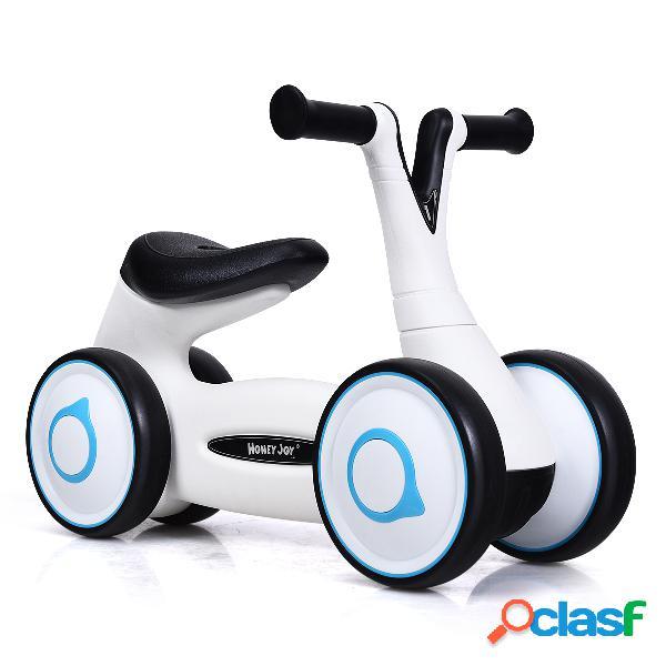 Costway vélo pour enfant sans pédales guidon réglables pour les 12 à 36 mois blanc