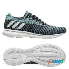 Adidas chaussures de running adizero prime - noir/blanc/bleu