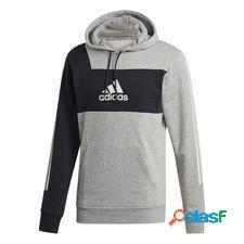 Adidas sweat à capuche sport id - gris/noir