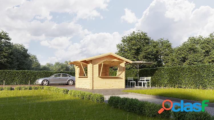 Kiosque en bois 3x3m