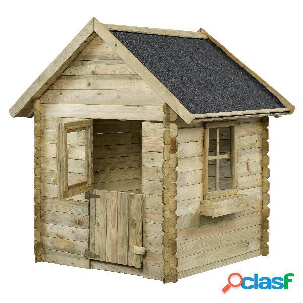Maison enfant bois 150x124x160cm