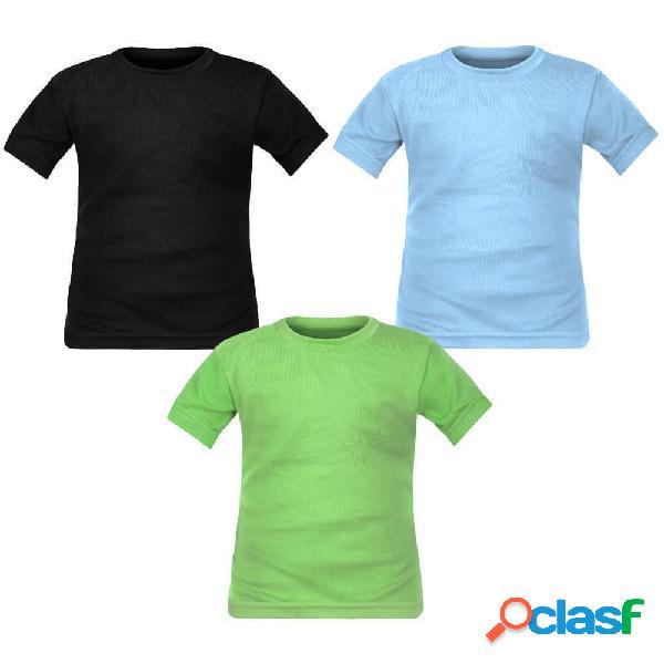 Lot de 3 t-shirts enfant garçon manches courtes (3 couleurs) - 4 ans