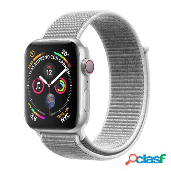 Apple watch série 4 gps + cellulaire 40 mm argent avec dragonne nail