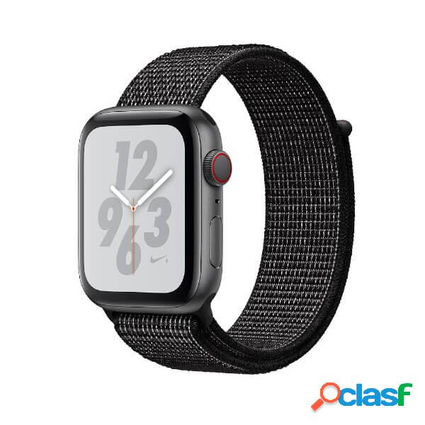 Apple watch série 4 nike+ gps + cellular 44 mm gris spatial et le san