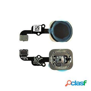 Nappe du bouton principal pour iphone 6s, iphone 6s plus - noire