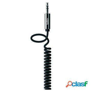 Câble spiralé aux jack 3,5 mm / 3,5 mm belkin - noir - 1,8m