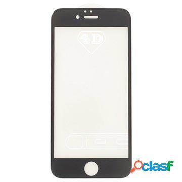Protecteur écran en verre trempé 4d pour iphone 6 plus, iphone 6s plus - couverture complète - noir