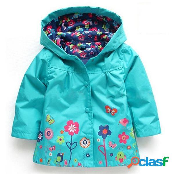 Imperméable trench-coat pour garçon fille veste coupe-vent résistant à l'eau vêtement de plein air