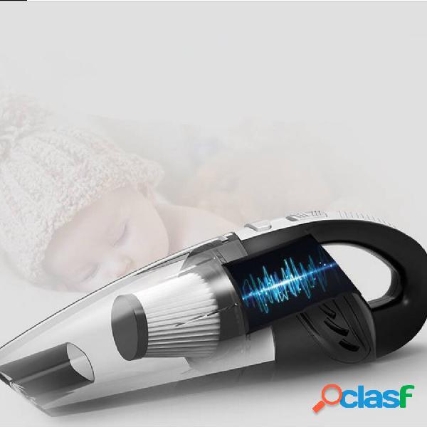 L'aspirateur sans fil a mené la lumière 120w haute puissance sèche humide portable portable sans fil aspirateur de voiture