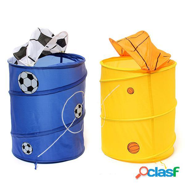 Football basket-ball panier de linge pliable sac de rangement de vêtements bain hamper divers boîte