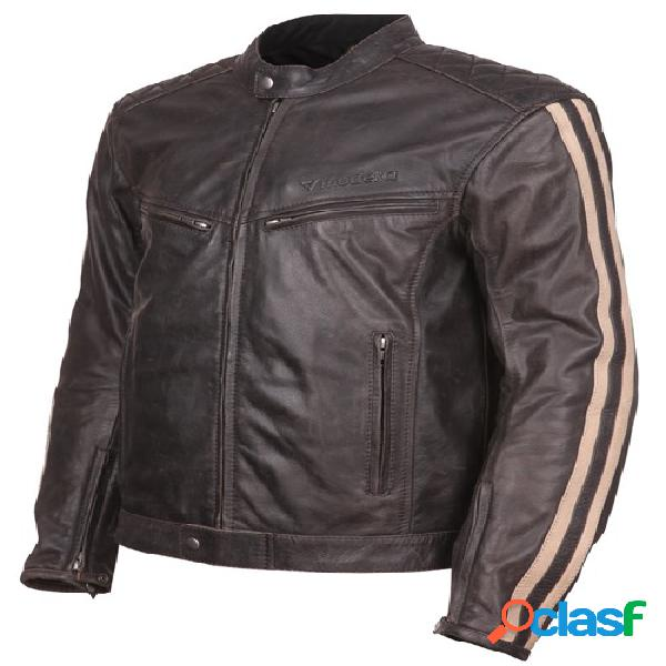 Modeka wing, veste moto cuir hommes, marron