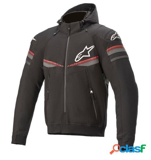 ALPINESTARS Sektor V2 Tech Hoodie, Veste moto textile hommes, Noir-Rouge Vif