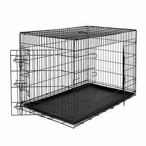 Dibea cage de transport pliable pour chiens et petits (xxl)