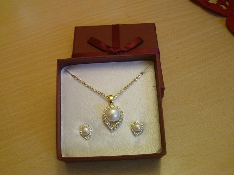 Parure doré or fin perles de culture c?ur n° 703
