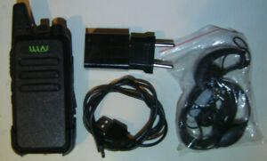 Wln kd-c1 black 16 channel talkie ham radio uhf 400-470mhz