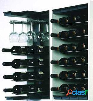 Étagère à bouteilles encastrable - modèle compact
