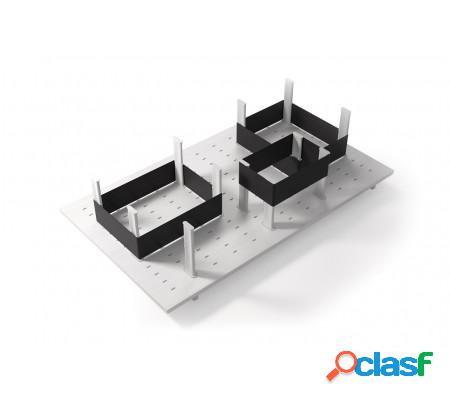 Système de rangement tiroir avec élastiques - bois laqué blanc - 78cm