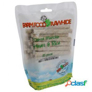 Farm food rawhide dental munchie coeur - 35 pièces 3 sacs