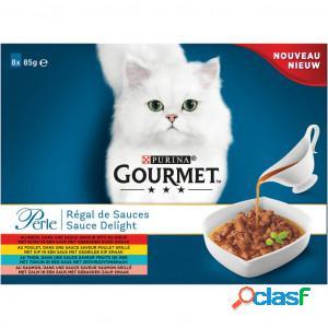 Gourmet perle sauce delight 85 gram chat 5 x (8 x 85g)