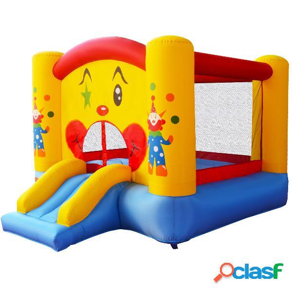 Costway château gonflable de motif de clown avec toboggan pour enfant 300 x 225 x 175 cm