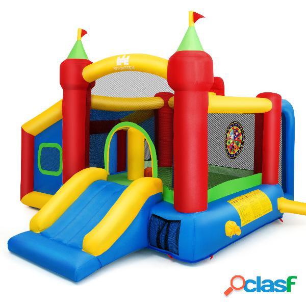 Costway château gonflable grande aire de jeux multifonctionnel multicolore 380 x 305 x 215 cm