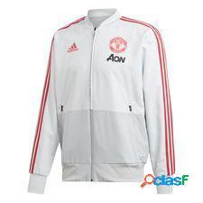 Manchester united veste presentation - gris/rouge