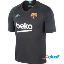 Fc barcelone t-shirt d'entraînement breathe strike - gris/cabana