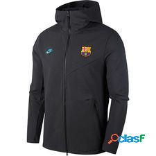 Fc barcelone sweat à capuche nsw tech pack - gris/cabana
