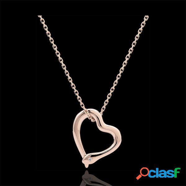 Collier balade imaginaire - serpent d'amour - variation petit modã¨le - or rose 18 carats diamant