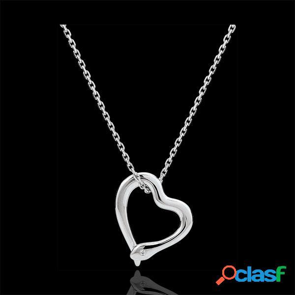 Collier balade imaginaire - serpent d'amour - variation petit modã¨le - or blanc 18 carats diamant