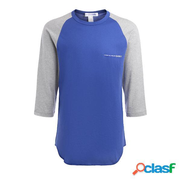 T-shirt à manches longues comme des garçons shirt gris et bleu